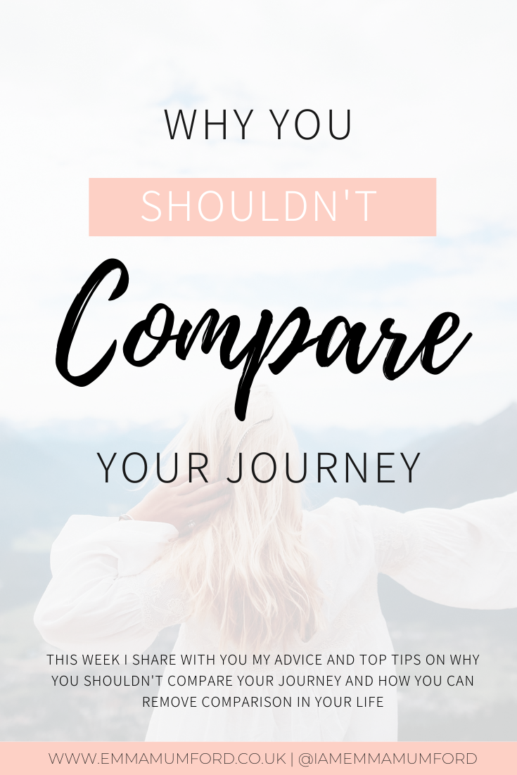 WHY YOU SHOULDN'T COMPARE YOUR JOURNEY