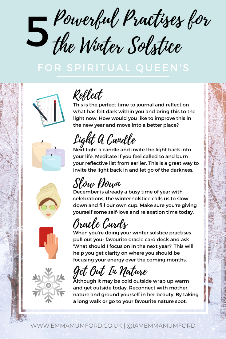 GREAT PRACTICES TO DO THIS WINTER SOLSTICE - Emma Mumford