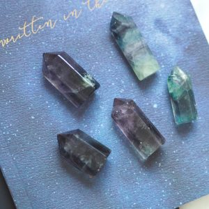 FLUORITE STANDING POLISHED POINT | LAWOFATTRACTIONSTORE