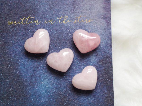 ROSE QUARTZ POLISHED GEMSTONE HEART CARVING | LAWOFATTRACTIONSTORE
