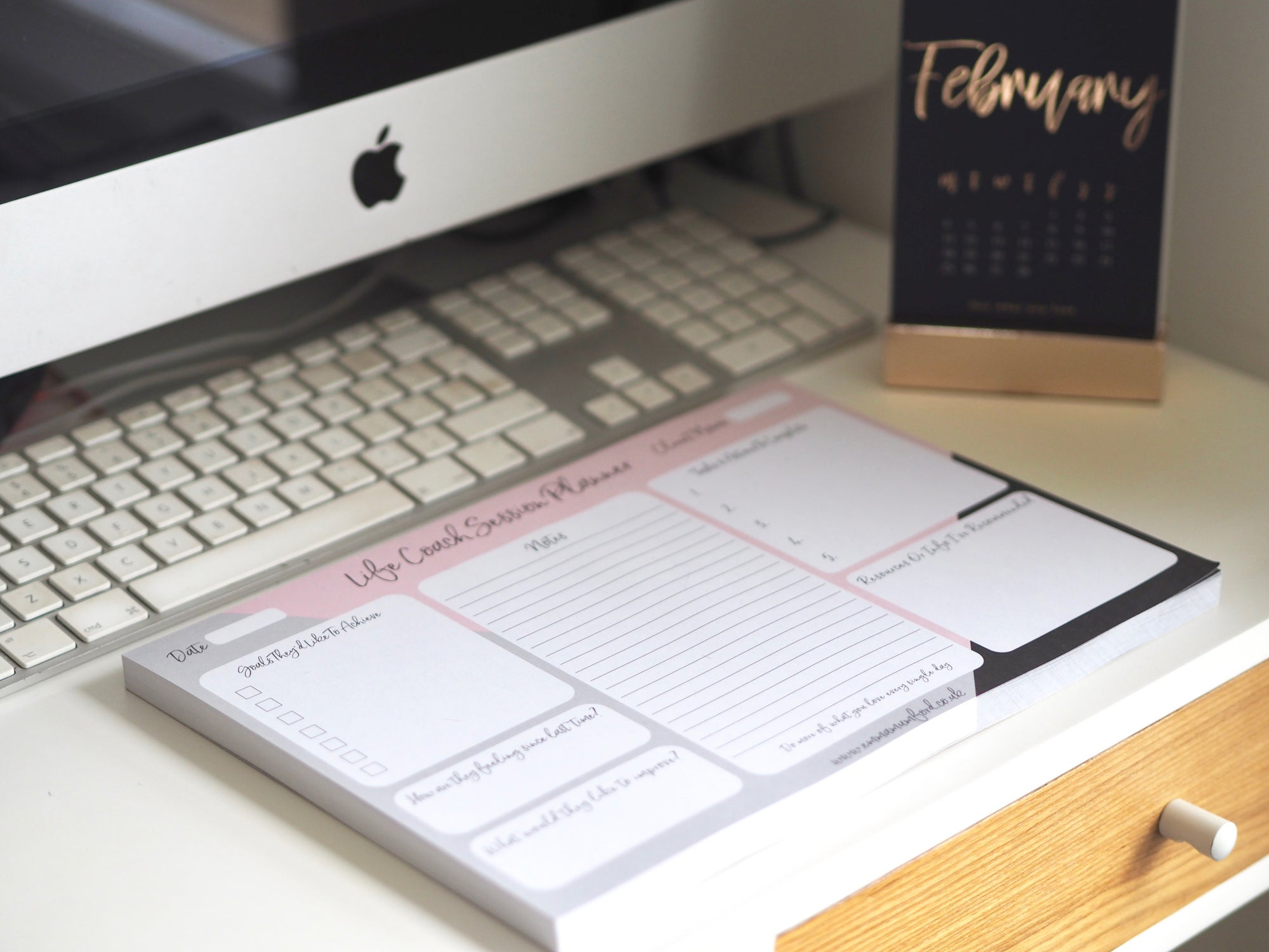 LIFE COACH SESSION DESK PLANNER A4 | EMMA MUMFORD
