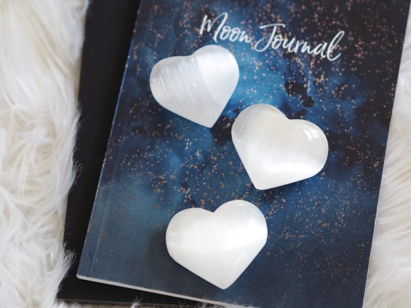 SELENITE HEART CRYSTAL | LAW OF ATTRACTION STORE
