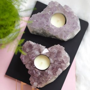 AMETHYST T-LIGHT HOLDER FROM BRAZIL | LAWOFATTRACTIONSTORE