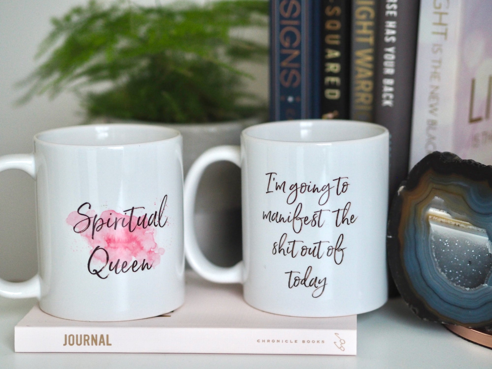 LAW OF ATTRACTION SLOGAN MUGS | EMMA MUMFORD