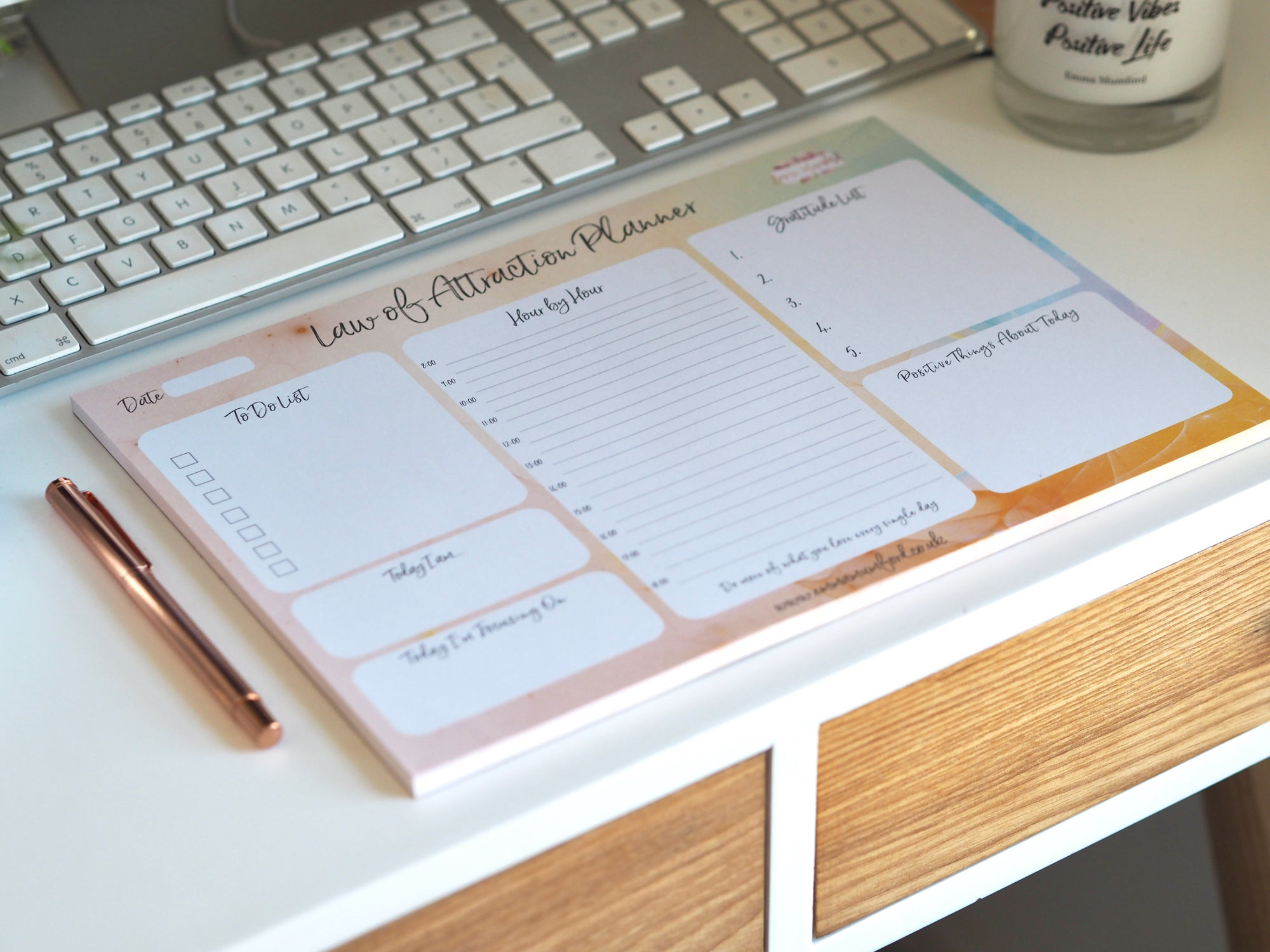 LAW OF ATTRACTION DESK PLANNER A4 | EMMA MUMFORD