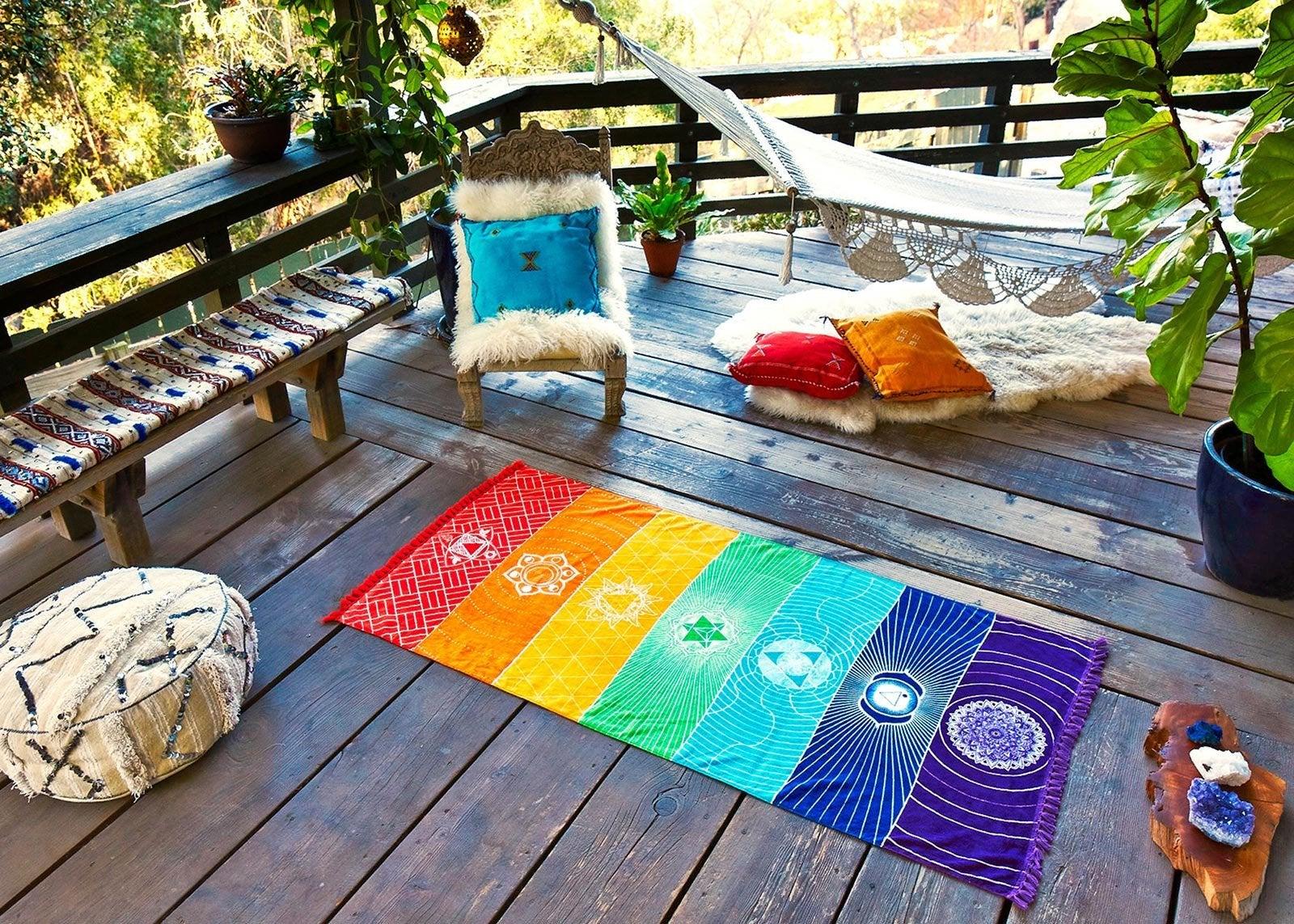 Chakra Towel Yoga Mat Emma Mumford