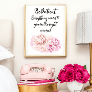 BE PATIENT BUDDHA QUOTE | TYPOGRAPHIC PRINT | A4 PRINTABLE (LAW OF ATTRACTION)