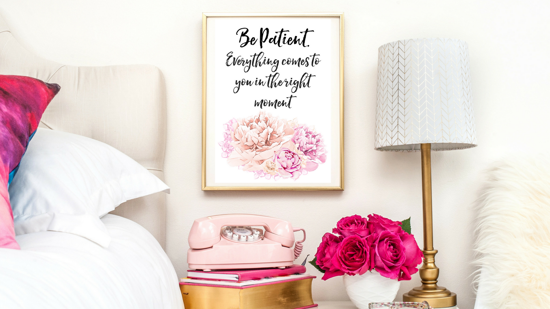 BE PATIENT BUDDHA QUOTE   TYPOGRAPHIC PRINT   A4 PRINTABLE (LAW OF ATTRACTION)