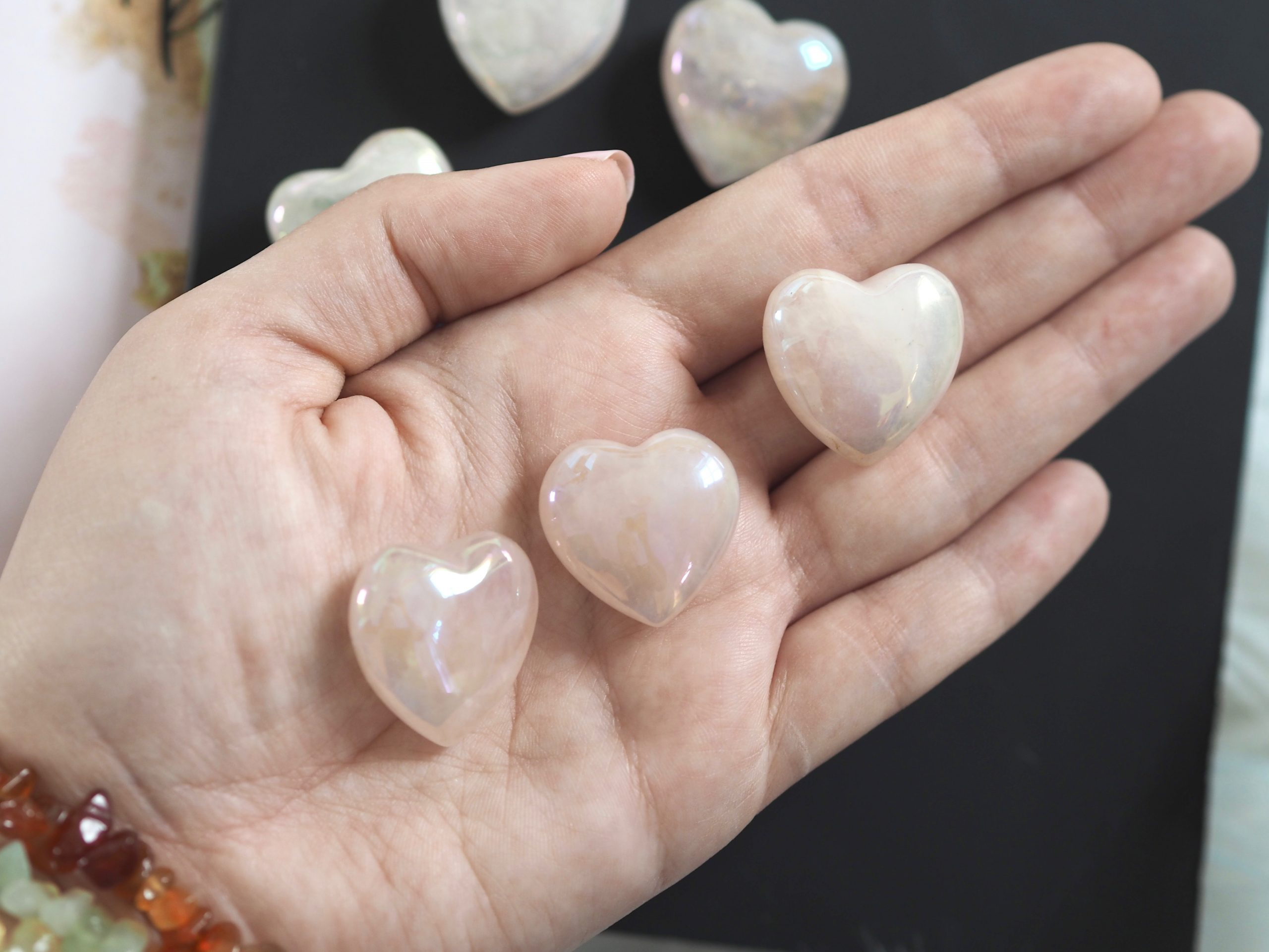 ROSE AURA HEART CRYSTAL | LAW OF ATTRACTION STORE