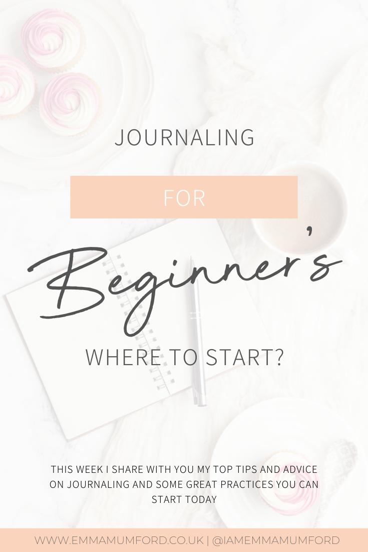 JOURNALING FOR BEGINNER'S - WHERE TO START? - Emma Mumford