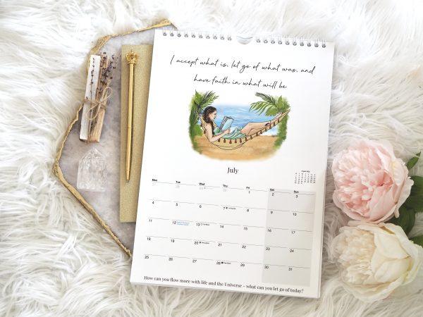 2022 Law Of Attraction Wall Calendar A4   Emma Mumford